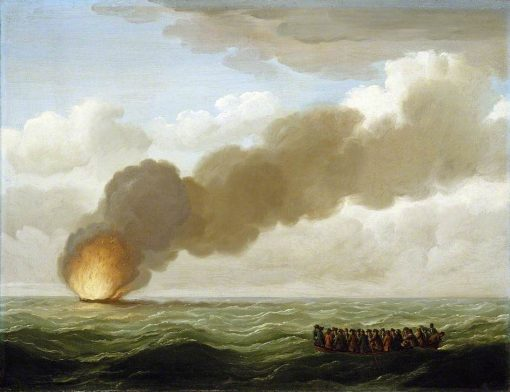 The 'Luxborough' Galley Burnt Right Down | John Cleveley the Elder | Oil Painting