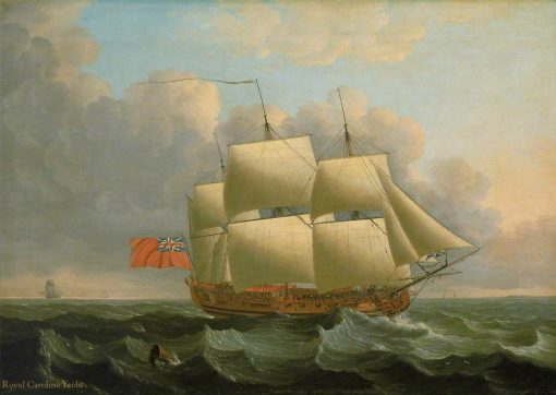 The 'Royal Caroline'   John Cleveley the Elder   Oil Painting