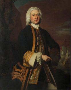 Captain William Gordon (c.1709-1768)   Joseph Highmore   Oil Painting