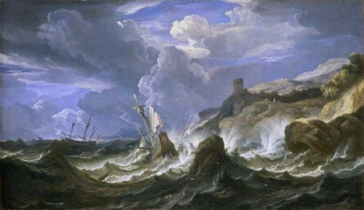 A Ship Wrecked in a Storm off a Rock Coast | Pieter Mulier the Younger | Oil Painting
