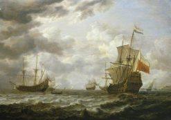 The 'Brederode' off Hellevoetsluis | Simon de Vlieger | Oil Painting