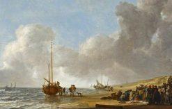 The Beach at Scheveningen | Simon de Vlieger | Oil Painting