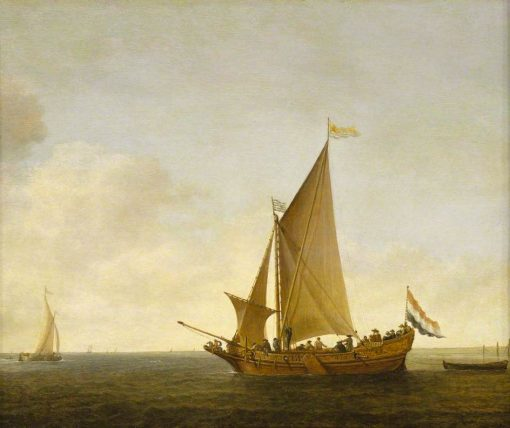 A Dutch Yacht from Zeeland | Simon de Vlieger | Oil Painting