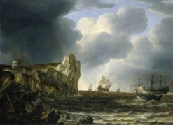 Shipping off the English Coast | Simon de Vlieger | Oil Painting