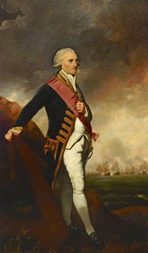 Admiral Lord George Brydges Rodney (1719-1792) | Sir Joshua Reynolds | Oil Painting