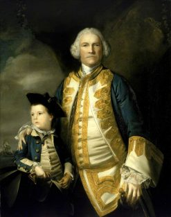 Admiral Francis Holburne and His Son | Sir Joshua Reynolds | Oil Painting