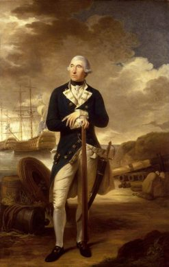 Rear-Admiral Richard Kempenfelt (1718-1782) | Tilly Kettle | Oil Painting