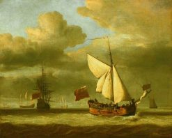 The 'Royal Escape' Close-Hauled in a Breeze | Willem van de Velde the Younger | Oil Painting