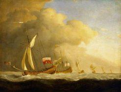 English Royal Yachts at Sea