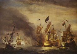 The Burning of HMS 'Royal James' at the Battle of Solebay