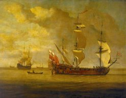 The 'Charles Galley' Before a Light Breeze | Willem van de Velde the Younger | Oil Painting