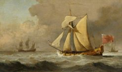 The Cleveland Yacht at Sea in a Fresh Breeze | Willem van de Velde the Younger | Oil Painting