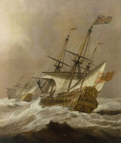 The 'Resolution' in a Gale | Willem van de Velde the Younger | Oil Painting