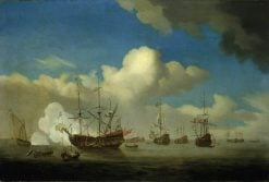 The Captured 'Royal Prince' Brought into Dutch Waters after the Four Days Battle of 1666 | Willem van de Velde the Younger | Oil Painting