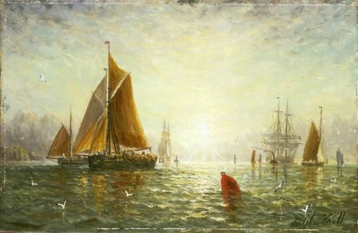 A Brixham Trawler | William Adolphus Knell | Oil Painting