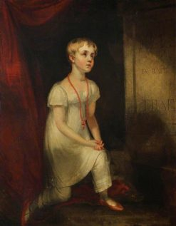 Horatia Nelson Kneeling before her Father's Tomb | William Owen | Oil Painting