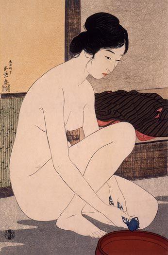 Bathing | Goyo? Hashiguchi | Oil Painting