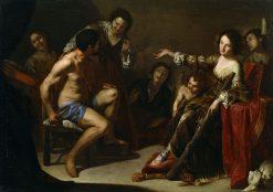 Hercules and Omphale   Bernardo Cavallino   Oil Painting