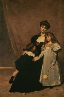 Madame Faydou and Her Children | Charles Auguste Emile Durand | Oil Painting
