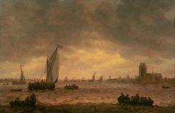 Mouth of the Meuse (Dordrecht) | Jan van Goyen | Oil Painting