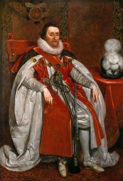 King James I of England an VI of Scotland | Daniel Mijtens | Oil Painting