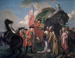 Robert Clive and Mir Jafar after the Battle of Plassey