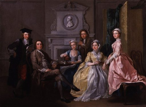 Jonathan Tyers and His Family   Francis Hayman   Oil Painting