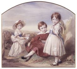 Swinburne and his Sisters | George Richmond | Oil Painting