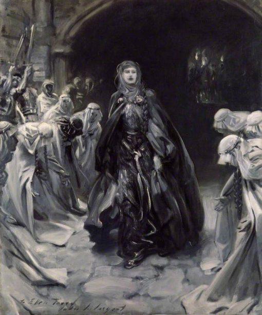 Ellen Terry (replica of an original of 1889 by the artist)   John Singer Sargent   Oil Painting