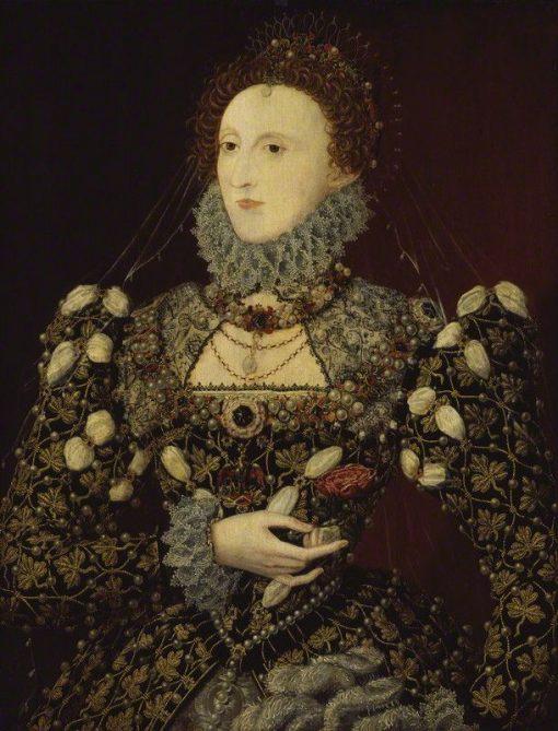 Elizabeth I   Nicholas Hilliard   Oil Painting