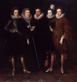 The 1st Earl of Monmouth and his family | Paulus van Somer I | Oil Painting