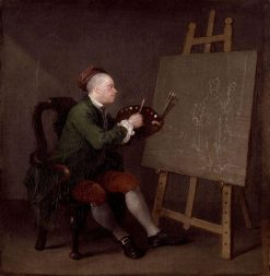 Hogarth Painting the Comic Muse | William Hogarth | Oil Painting