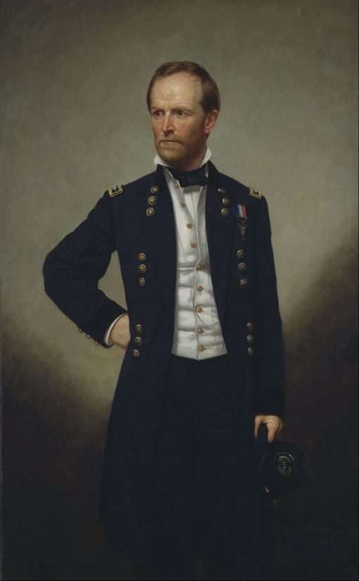 Portrait of William T Sherman | George Peter Alexander Healy | Oil Painting