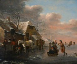 Ice-Skating Scene | Klaes Molenaer | Oil Painting