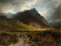 Samuel Bough Mountain Valley with a Drover | Samuel Bough | Oil Painting