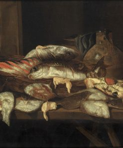Still Life with Halibut and Other Fish   Abraham van Beyeren   Oil Painting