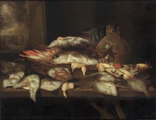 Still Life with Halibut and Other Fish | Abraham van Beyeren | Oil Painting