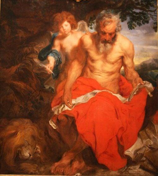 Saint Jerome   Anthony van Dyck   Oil Painting