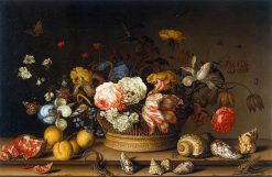 Still Life with Flowers and Shells | Balthasar van der Ast | Oil Painting