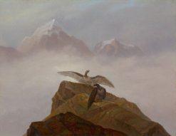 Birds of Prey in the Alps   Carl Gustav Carus   Oil Painting