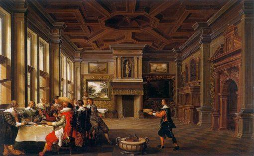 Distinguished Dinner Comapany in an Interior | Dirck van Delen | Oil Painting
