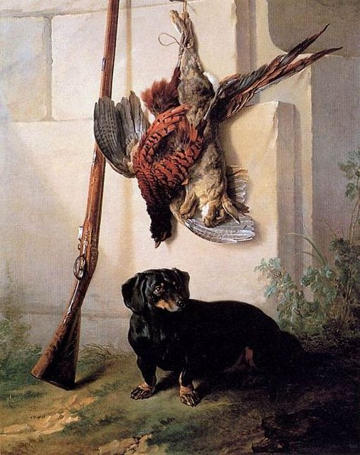 Hound with Gun and Dead Game | Jean Baptiste Oudry | Oil Painting
