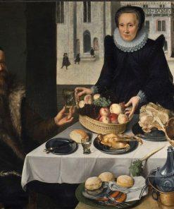 Double Portrait of an Elderly Couple   Lucas van Valckenborch   Oil Painting