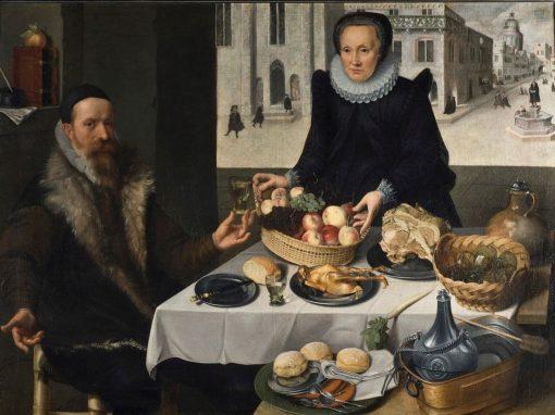 Double Portrait of an Elderly Couple | Lucas van Valckenborch | Oil Painting
