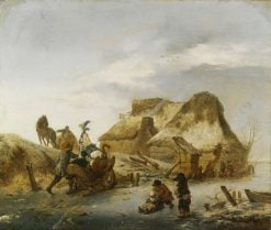 Winter Landscape | Philips Wouwerman | Oil Painting