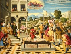 The Martyrdom of Saint Lawrence | Girolamo da Santa Croce | Oil Painting