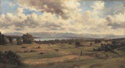 Summer Landscape at Lake Starnberger | Adolf Heinrich Lier | Oil Painting