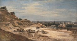 A Stone Quarry near Paris | Adolf Heinrich Lier | Oil Painting