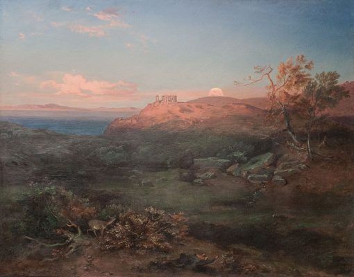Aigina with the Aphaiatempel   Carl Rottmann   Oil Painting