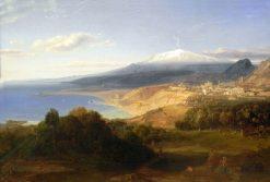 Taormina with Mt Etna | Carl Rottmann | Oil Painting